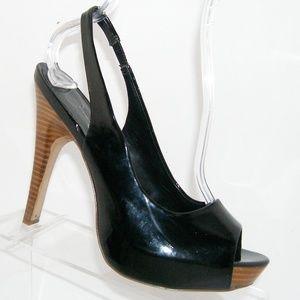 Jessica Simpson Agyness black slingback heel 8.5B
